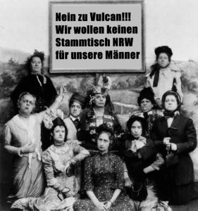 Protest Mädels Stammi NRW