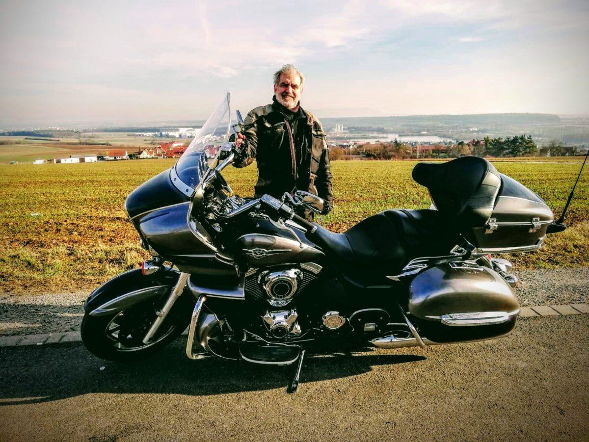 Klaus mit seiner Kawasaki VN 1700 Voyager