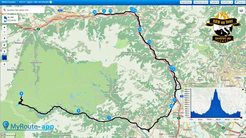NRW on Tour Aostatal Alpin Tour Map Tag 6